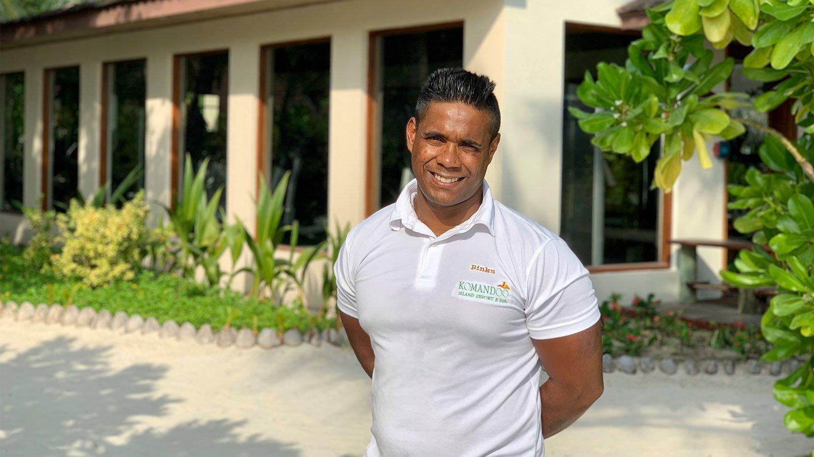 Rinku gym instructor komandoo maldives