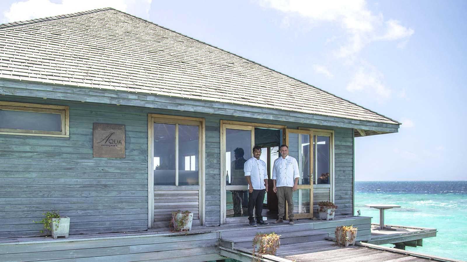 Aqua Restaurant chefs Maldives